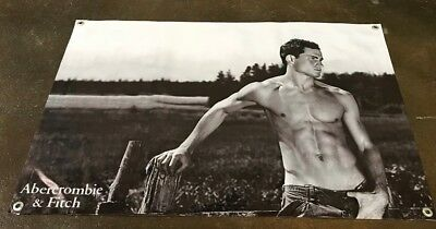 Abercrombie clothing jean poster banner store top sign