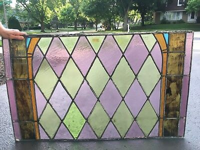 Antique stained glass window church (160 year old) 1858