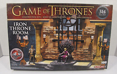 """McFarlane Toys Game of Thrones - """"Iron Throne Room"""" - Model/Puzzle - Sealed"""