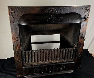 Nearly Complete Antique Fireplace Surround Cast Iron Victorian BUCKEYE July1892