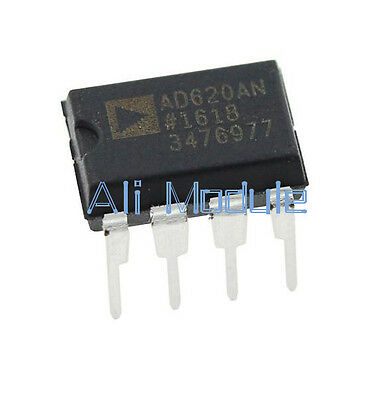 2 PCS New AD620 AD620AN DIP-8 Instrumentation Amplifier IC
