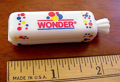 LOT OF 6 (SIX) WONDER BREAD MINI LOAF 2001 Plastic Advertising Package Clips