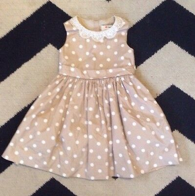 5868cbd2e Neiman Marcus Jason Wu Target Girls 4T Polka Dot Brown Dress Lace Trim