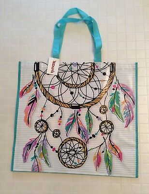 NEW TJ Maxx Large Shopping Tote Bag - Dream Catcher With Colorful Feathers