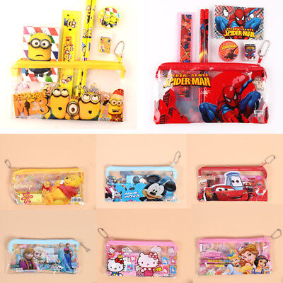Mickey Mouse Spiderman Pencil Case Stationery School Supplier Pouch Boy & Girls