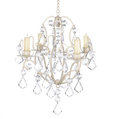 14947 Ivory Baroque Taper Candle Holder Chandelier Wrought Iron