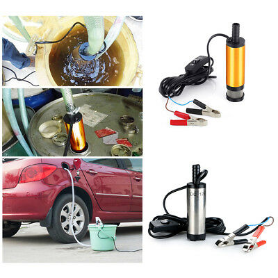 12V 38mm Electric Submersible Water Pump Oil Fuel Transfer Refueling NEW