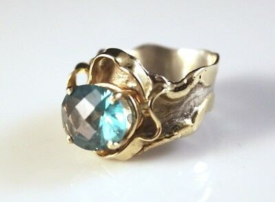 Electroplated Gold Baroque-Style Fashion Ring - 8953-3
