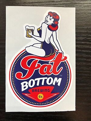 Fat Bottom Brewing Company sticker Craft Beer Nashville Tennessee Mancave