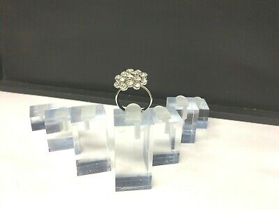 14 New Acrylic Ring Display Holder Different Height Stands