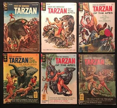 Tarzan Comic Lot -8 Books- Gold Key 1963-1967