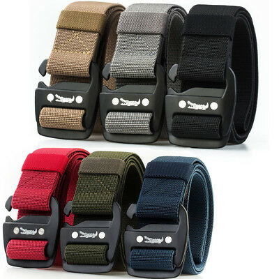 Casual Mens Elastic Belt Stretch Webbing Canvas Belts Outdoor Sports Waistband