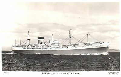 Carte Postale - Bateau - Ship - Boat - M.V. City of Melbourne