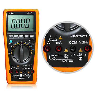 VC99 3 5/6 Digital LCD Multimeter Thermomete Capacitance Resistance Auto Range