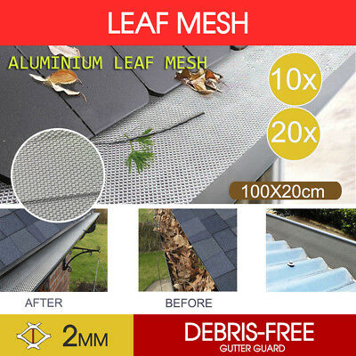 Gutter Guard Aluminium Deluxe Leaf Mesh Keeps The Leafs Out AU STOCK 10M 20M