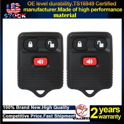 2 Pack Car Key Fob Keyless Entry Remote For Ford Lincoln Mercury Pickup Truck US