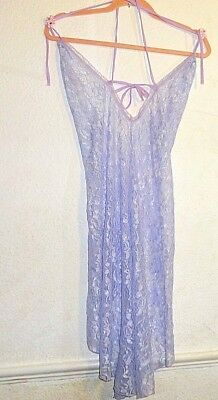 Vintage Style Night Dress Gown Lace BNWOT Size S. Choose Purple, Pink or Black