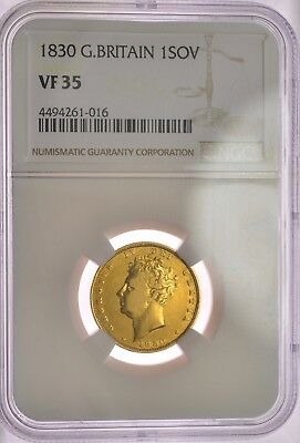 1830  Sovereign  Ngc Vf35  George Iv  ®-1226