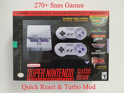 Super Nintendo Classic Edition Console SNES Modded 270+ Games 100% Authentic