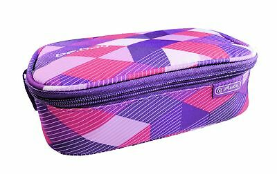 Herlitz Faulenzer Schlamper Schlamper-Etui  be.bag beatBox, Purple Checked