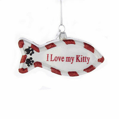 I Love My Kitty Fish Ornmanet