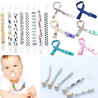 Kids Baby Boy Girl Dummy Pacifier Soother Nipple Strap Chain Clip Holder