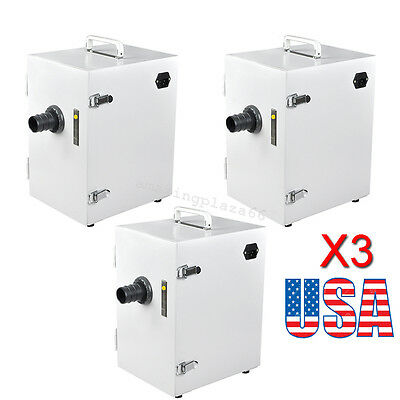 【USA】3PCS Dental Lab 370W Digital Single-Row Dust Collector Vacuum Cleaner UPS