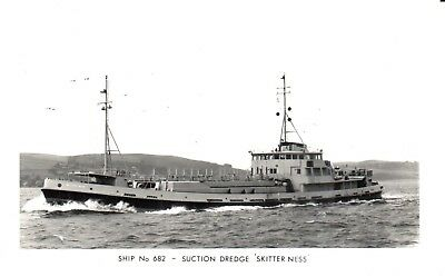 Carte Postale - Bateau - Ship - Boat - Suction Dredge Skitter Ness