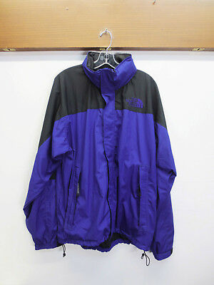 4f42054ab EUC MENS NORTH Face Hydrenaline Jacket Windbreaker Purple Hooded Lined Size  XL