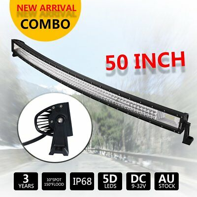 "50"" 1800W Curved Triple Row LED Light Bar Combo Beam Offroad SUV ATV 50inch"