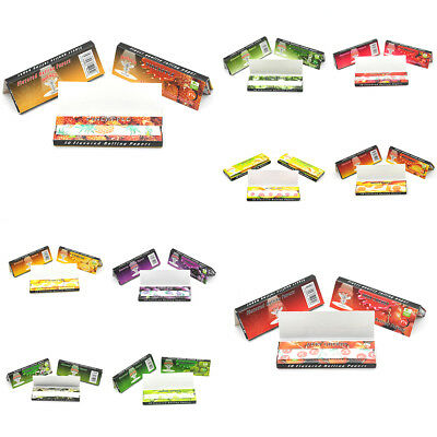 250 Leaves 5 Lots juicy Flavoured Rolling Papers Smoking Tobacco Paper Flavours