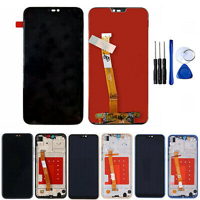 LCD Display Touch Screen Replacement Digitizer + Frame Tools For Huawei P20 Lite