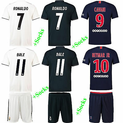 2018/19 Soccer Football Club Jersey Short Sleeve Kids Boys Kit Team Suit & Socks