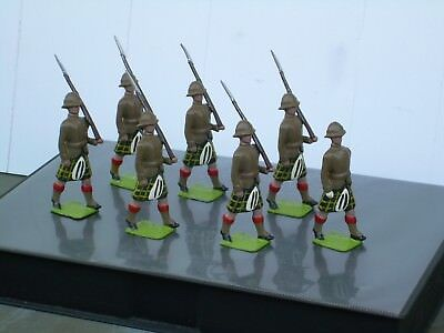 Set 7 South Africa Capetown Highlanders-Hand Painted White Metal-Mint Condition