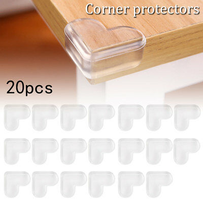 20 x Durable Desk Table Corner Edge Guard Baby Child Safety Protector Cover AU
