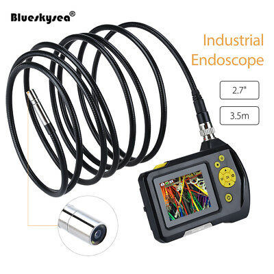 "Video Inspection Snake Scope 3.5"" LCD Camera Borescope Endoscope 8.2mm 3.5m AU"