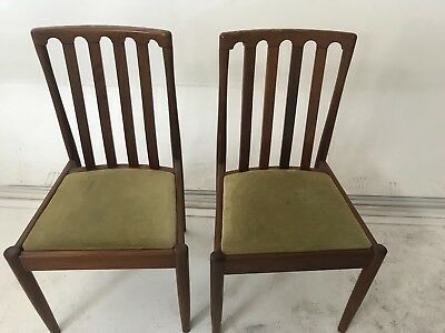 Set of 4 Vintage Oak Chairs Art Deco, Antique Dining Chairs