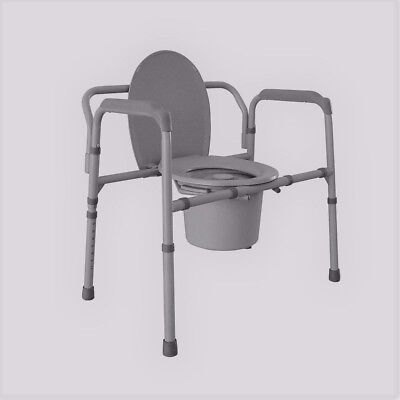 Local Pick Up Only DRIVE MEDICAL STEEL FOLDING BEDSIDE COMMODE 7.5 QT TOILET