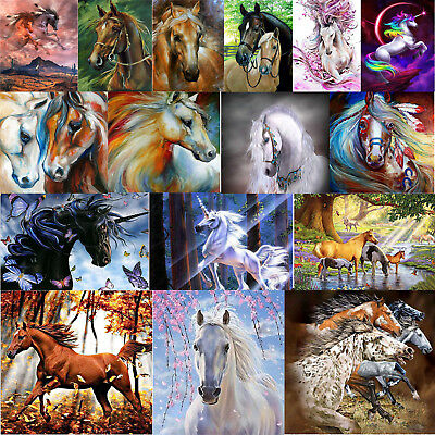 5D Diamond Painting Animal Horse Embroidery DIY Craft Cross Stitch Kit Art Decor