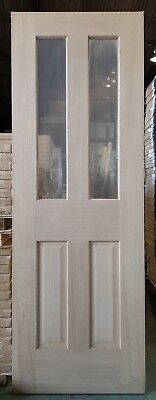 Oak Veneered Unfinished Internal 4 Panel Glazed 35mm Engineered Door