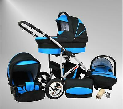 Lux4Kids Kinderwagen Set 3in1 Komplett Buggy Babywanne uvm.True Love Larmax
