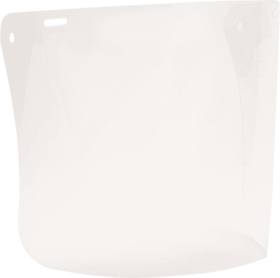Protector POLYCARBONATE VISOR 185x360mm Cap Attachable, Medium Impact CLEAR