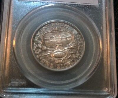 1927 Florin - George V -  Commemorative - Parliament House - Pcgs Ms64