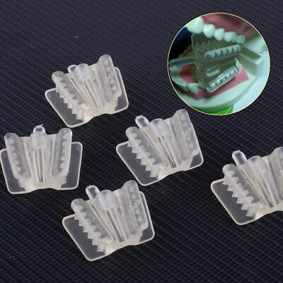 5pcs Dental Clear Silicone Mouth Support Prop Holding Saliva Ejector Suction Tip