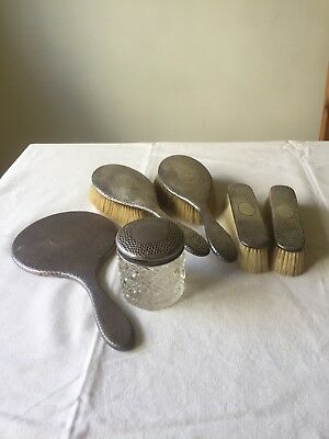 Antique Silver Dressing Table Set 1910. Good condition. FREE P&P