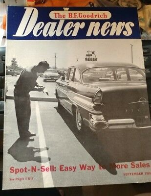 THE B F GOODRICH DEALER NEWS COMPANY MAGAZINE SEPT 1959 tires automotive
