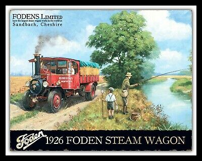 Wagon Lorry ERF Truck Plaque Medium Metal Tin Sign Picture Classic//Vintage