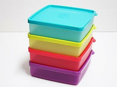 New Tupperware Square Away 400ml Container Set (4 pc) Sandwich Lunch Box