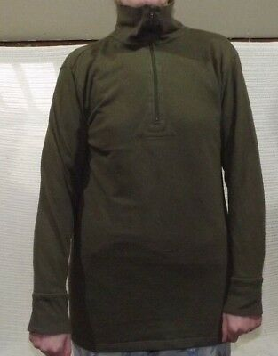 THREE pack of  German Army long-sleeved olive green thermal top Norgi style