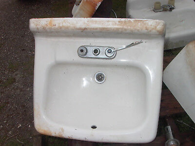 Old Used Cast Iron / Porcelain Wall Mount Sink